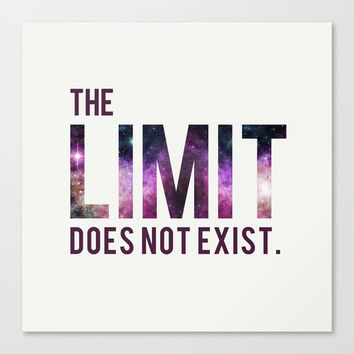 The Limit Does Not Exist - Mean Girls quote from Cady Heron Canvas Print by AllieR