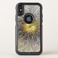 Flourish With Gold Modern Abstract Fractal Flower OtterBox Commuter iPhone X Case