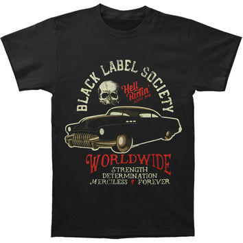 Black Label Society Men's  Hell Riding Hot Rod T-shirt Black