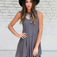 Aubrey Grey Slip Dress