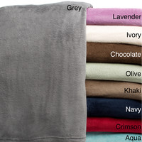 All Seasons Super Soft Luxurious Solid Microplush Blanket