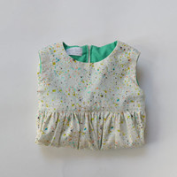 The Baby Jawbreaker Dress. S - XL. Cream and Candy Green. 1950s Vintage Inspired.