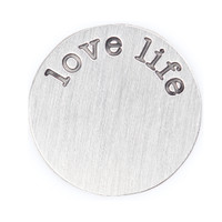 """""""Love Life"""" Silver Floating Locket Plate"""