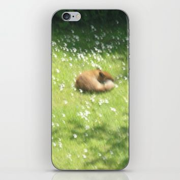 Sleeping Fox iPhone & iPod Skin by letgofyourcolours
