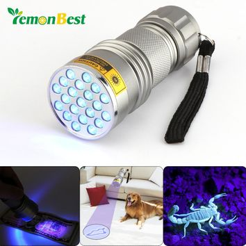 Lemonbest 21-LED UV Blacklight flashlight