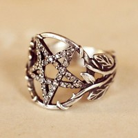 Pamela Love Pentagram Ring w/ Diamonds