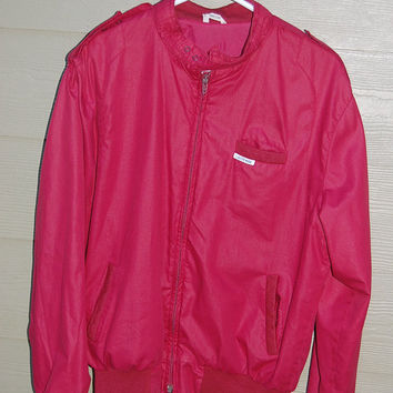 "Vintage Members Only Style Jacket by L'Autre Mode ""The Other Fashion"" Burgandy SIze Large 46"