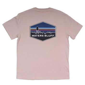 Midnight Tower Simple Pocket Tee in Nude by Waters Bluff