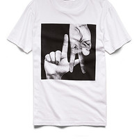 LA Graphic Tee White/Black