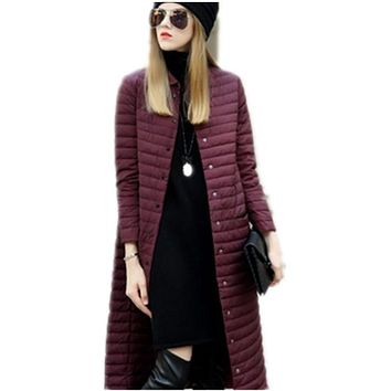 2017 Hot Sale Spring Autume Women's Jackets Coats With Hood Fashion Windproof Womens Parkas High Quality Womens Quilted Coat