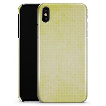 Faded Yellow Micro Grunge Dots - iPhone X Clipit Case