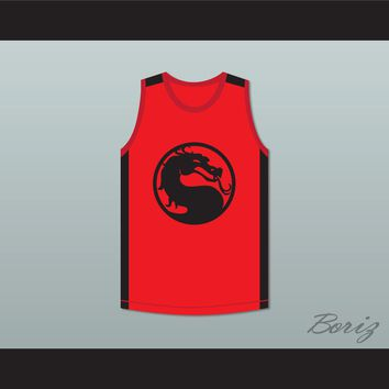 Bruce Leroy Green 85 The Last Dragon Red Mortal Kombat Jersey