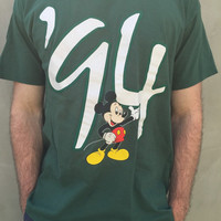 Vintage '94 Disneyland Mickey Mouse Disney Shirt Front and Back