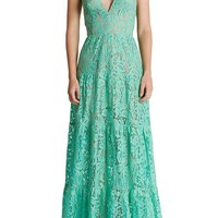 Dress the Population Lace Fit & Flare Gown | Nordstrom