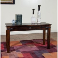 Sunny Designs 3160DC-E Santa Fe End Table In Dark Chocolate
