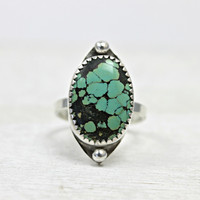 Valentina ring - turquoise and sterling silver
