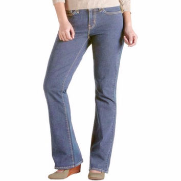 Signature by Levi Strauss & Co. Women's Curvy Boot Cut Jeans, Aurora, 16S