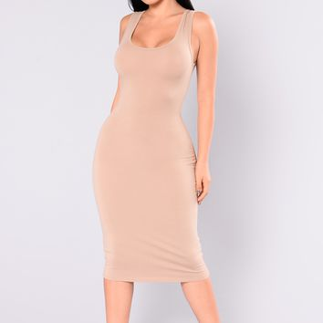 Needy Midi Dress - Taupe