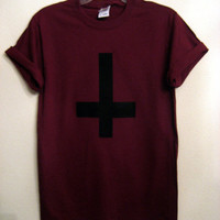 inverted cross maroon Unisex shirt