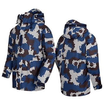 "New Premium ""SouthPlay"" Winter Season Waterproof 10,000mm Warming Ski & Snowboard  Navy Camo Military Jackets"