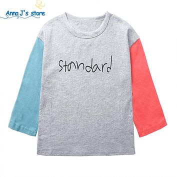 New joint color Kids Clothes Boys Girls T Shirt Tops Tees Children's T-shirts Toddler Baby casual leisure wear