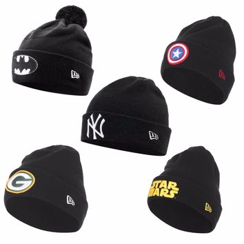 New Era NY Cuffed Mens Beanie Batman Captain America Star Wars Green Bay Packers