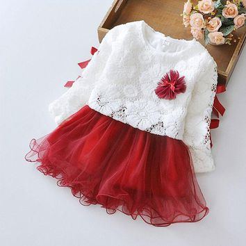 For spring infant baby girls clothes princess birthday party tutu dresses toddler girls baby child clothing brand design dress