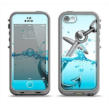 The Anchor Splashing Apple iPhone 5c LifeProof Fre Case Skin Set