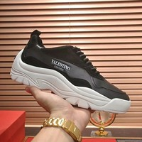 VALENTINO winter new tide brand lightweight breathable wild outdoor casual shoes Black