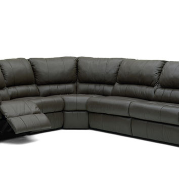 Large Reclining True Sectional Leather Sleeper Sofa- Melrose by Palliser