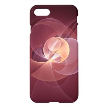 Movement Abstract Modern Wine Red Pink Fractal Art iPhone 7 Case