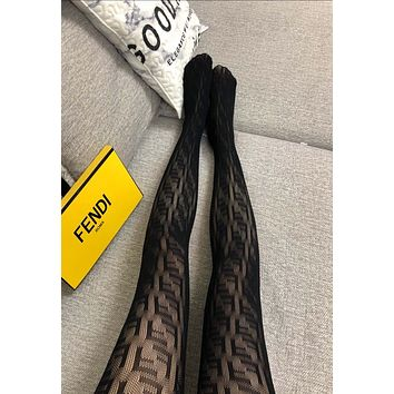 FENDI FF Mesh Tights
