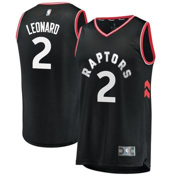 Men's Toronto Raptors #2 Kawhi Leonard Fanatics Branded Black Fast Break Replica Player Jersey - Statement Edition - Best Deal Online