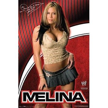 MELINA PEREZ POSTER - HOT SEXY WRESTLING WWE - NEW
