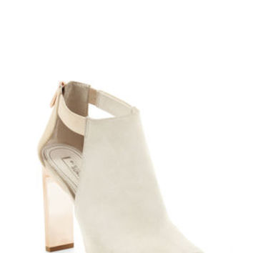 White BCBG Runway Devon High-Heel Peep-Toe Sandal