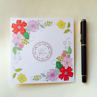 Thank You Card, Thanks Card, Thinking Of You Card, Flowers Card