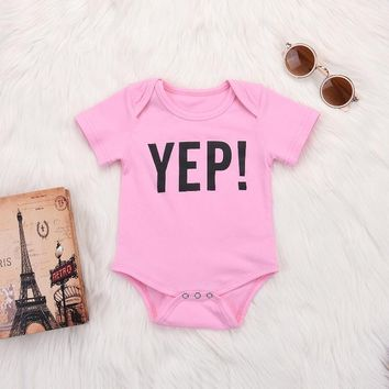 """YEP"" Pink Bodysuit"