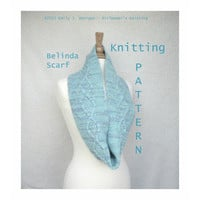 Belinda Cowl or Scarf Knitting Pattern, Diamond Cable & Moss, Cowl Scarf, Long Scarf, Dream in Color Classy, Worsted Yarn