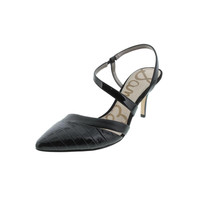 Sam Edelman Womens Othello Leather Cut-Out Slingback Heels