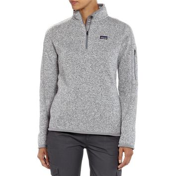 Patagonia Women's Better Sweater® 1/4-Zip Fleece Pullover | Ginger Berry