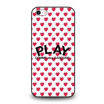COMME DES GARCONS PLAY  iPhone SE Case Cover