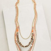 Sea Depths Layered Necklace by Anthropologie in Coral Size: One Size Necklaces
