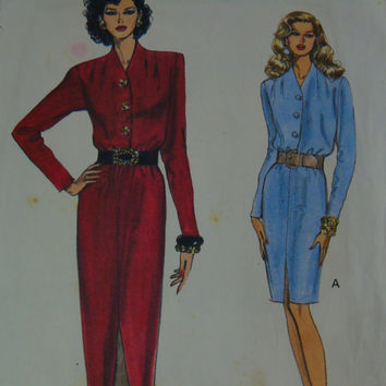 Very VOGUE Pattern 8499 Mid Knee Dress Very Easy Vogue Misses Cut Size 18