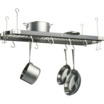 J.K. Adams Large Grey Ceiling Pot Rack