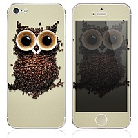 The Coffee Bean Owl Skin for the iPhone 3, 4-4s, 5-5s or 5c