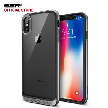 Case for iphone X 5.8 inches, ESR Heavy Duty Dual Layer Solid Cover with Bumper Frame Clear Hard Back Cover for iPhoneX 10 5.8