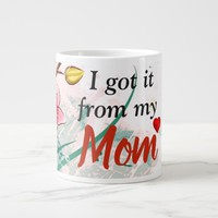 Mother's day special- Bunch of Lily flowers and qu Giant Coffee Mug