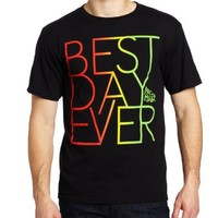 FEA Men's Mac Miller Best Day Ever Rasta Colors T-Shirt