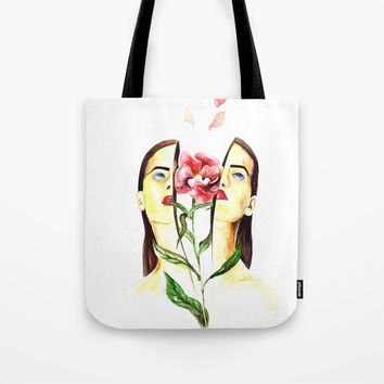 Coming Up Roses Tote Bag by MIKART
