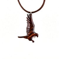 Hawk Pendant, Hawk Necklace, Falcon Pendant Necklace, Wood Hawk Necklace, Mens Hawk Necklace, Hawk Totem Pendant, Mens Jewelry, Hawk Jewelry
